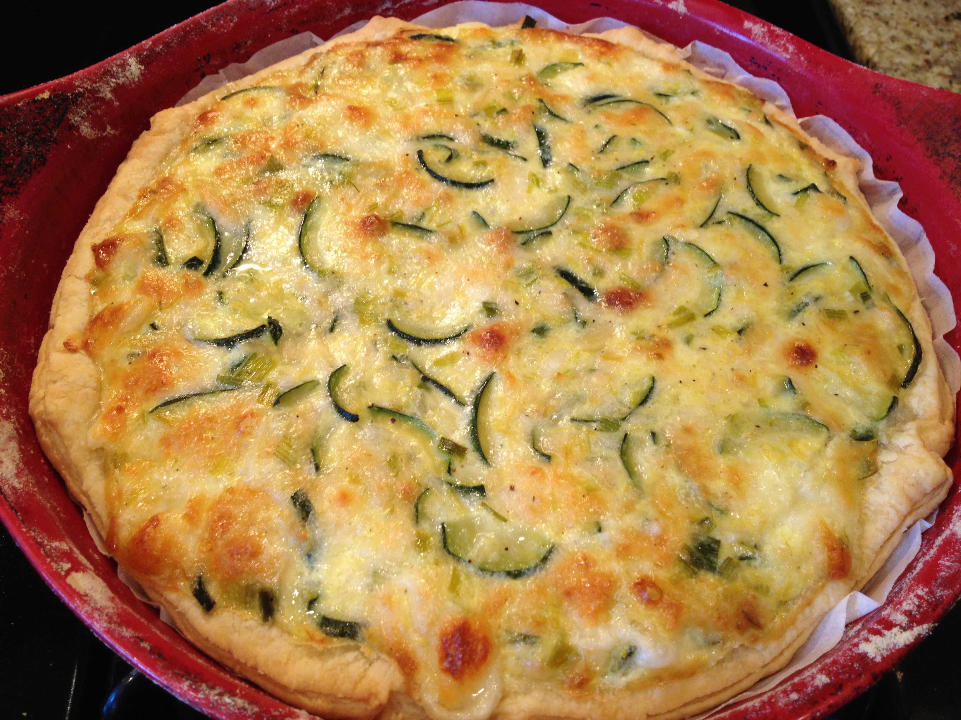 Cooking with nonna cheese and zucchini pie the source for Good quiche recipes easy