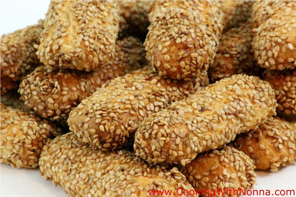 Recipe for sesame seed cookies