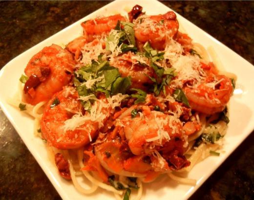 Linguine with Shrimp Ragout