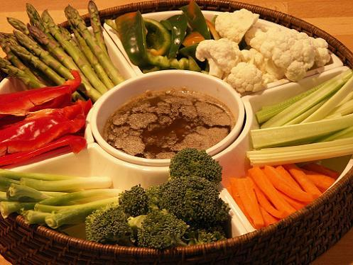 Bagna Cauda Dip With Assorted Vegetables Recipes — Dishmaps