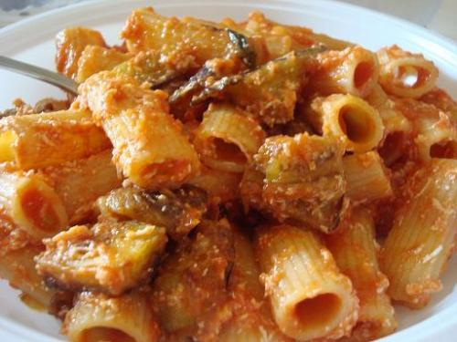 pasta alla norma pasta with eggplants created by cooking with