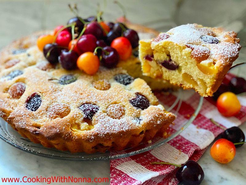 Cherry Mascarpone Cake