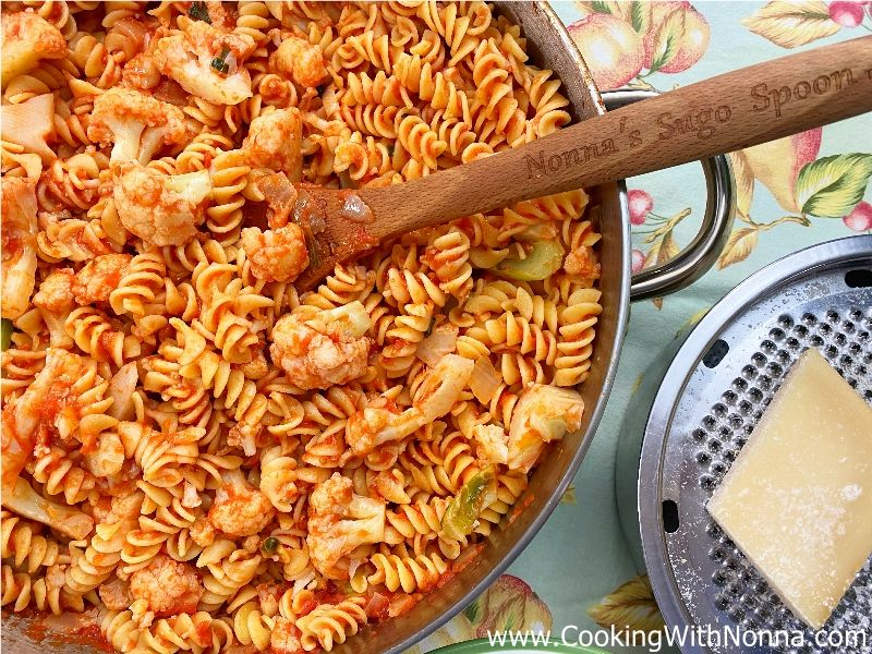 Fusilli with Cauliflower and Tomato Sauce