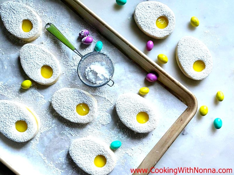 Lemon Curd Easter Egg Cookies
