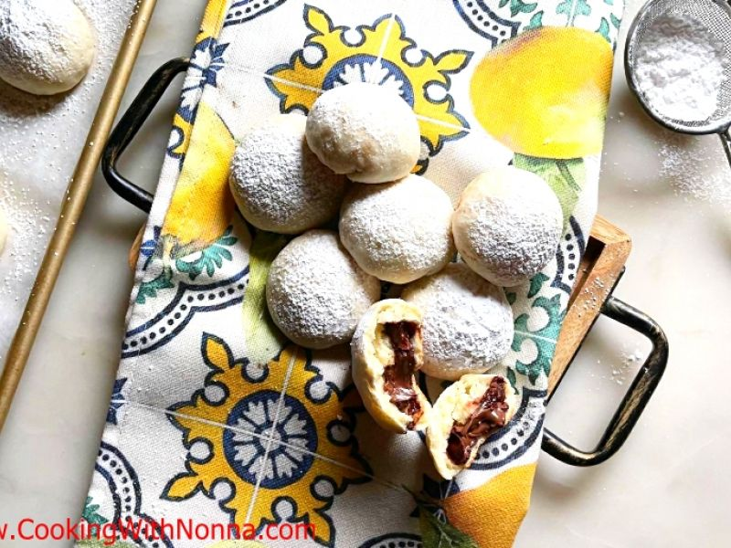 Nutella Filled Ricotta Cookies