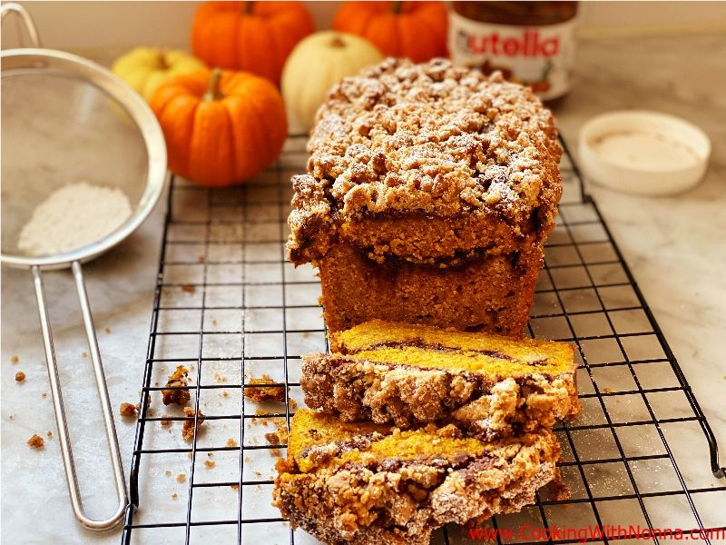 Nutella Pumpkin Bread