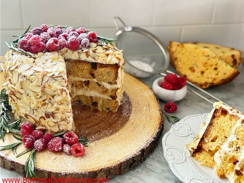 Panettone Layer Cake with Mascarpone Cream Cheese Frosting