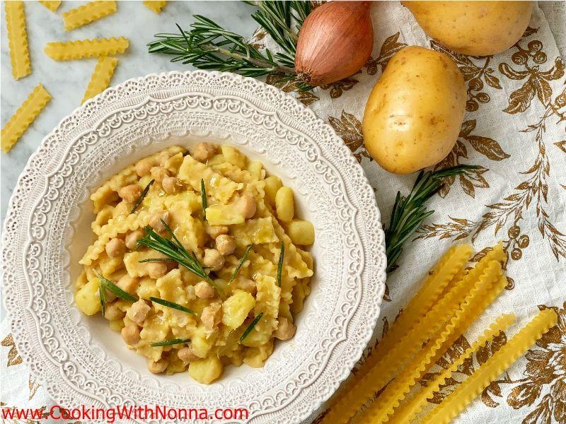 Pasta Ceci e Patate ~ Pasta with Chickpeas & Potatoes