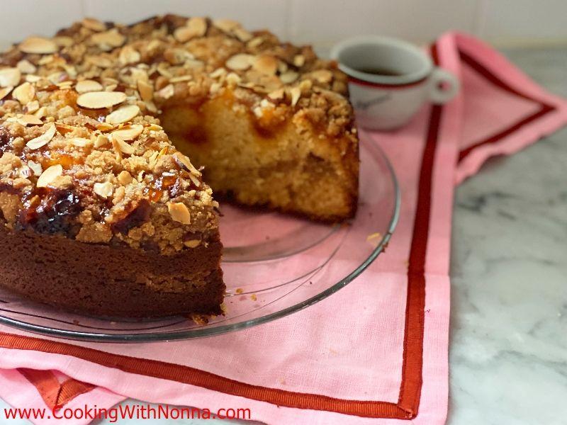 Ricotta & Jam Crumb Cake