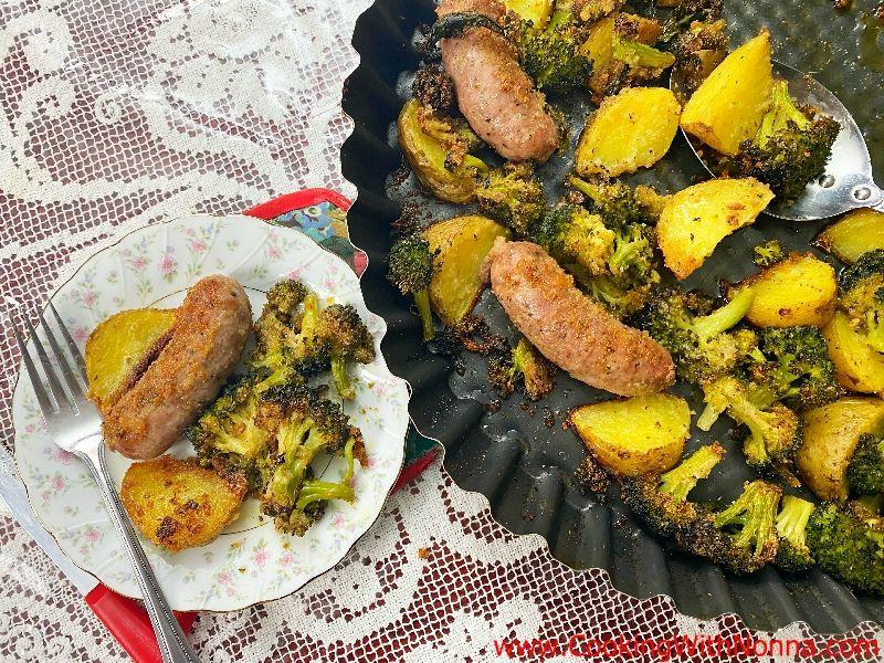 Roasted Sausage with Broccoli & Potatoes