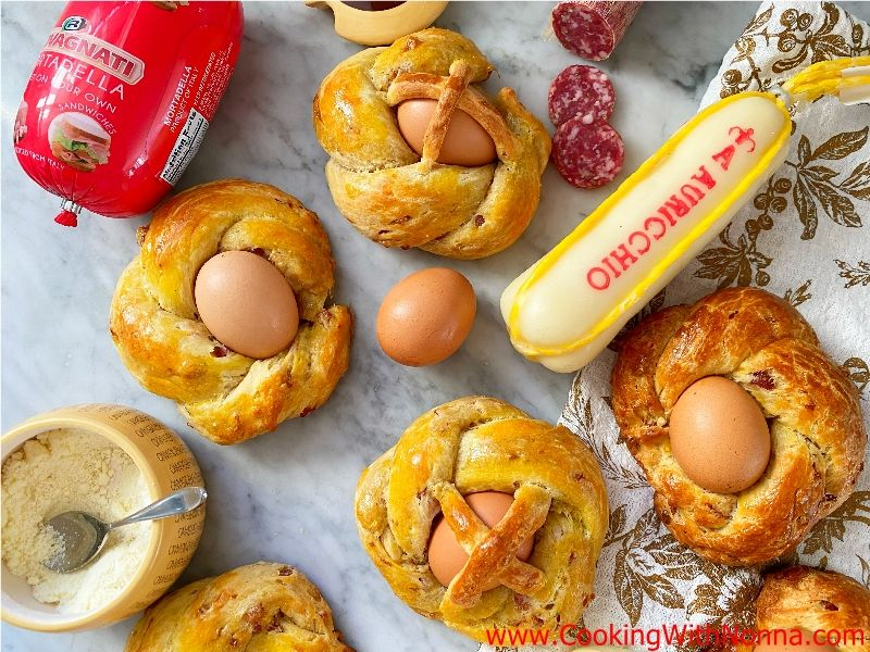Savory Easter Scarcella - Meat & Cheese Easter Bread