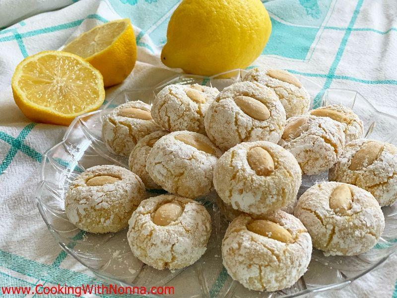 Soft Lemon Almond Cookies - Amaretti Morbidi