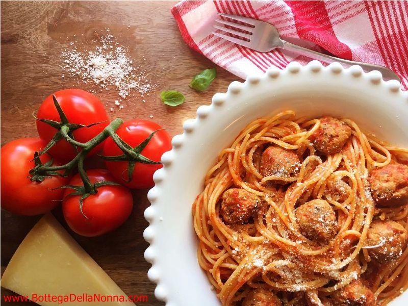 Spaghetti with Sausage Meatballs