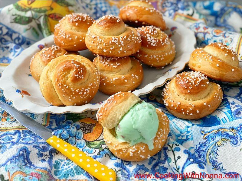 Sweet Ricotta Brioche Rolls