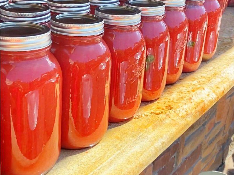 Tomato Jarring Italian Style