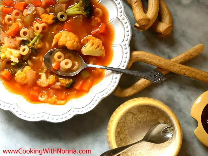 Vegetable Soup with Anelletti