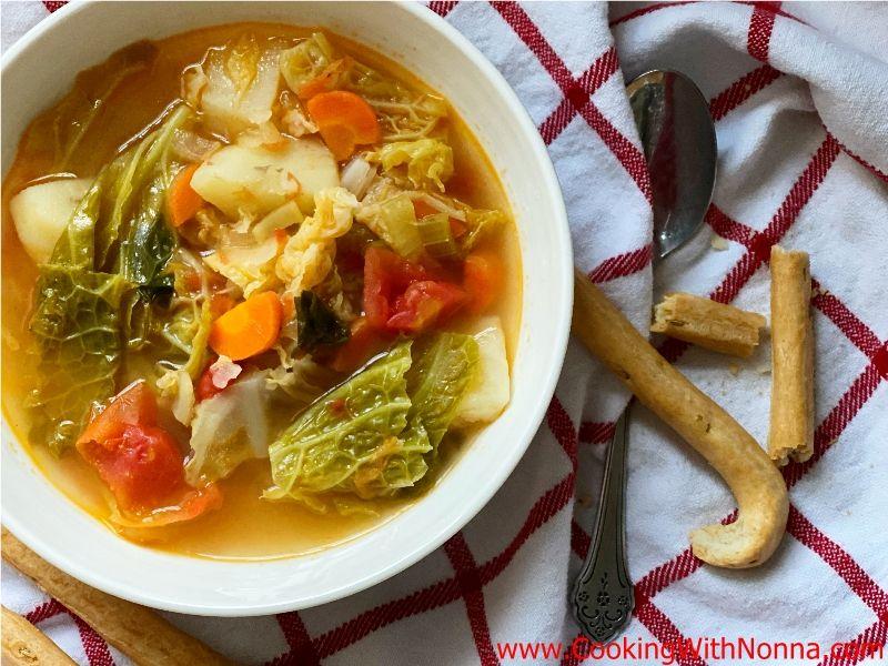 Zuppa di Verza - Savoy Cabbage Soup