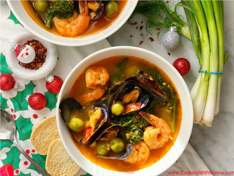 Zuppa di Pesce With Broccoli Rabe