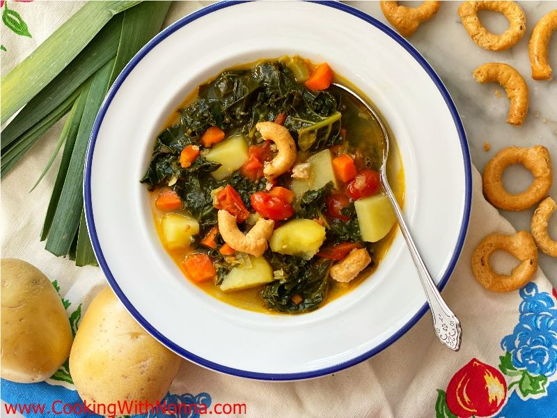 Italian Potato Leek Soup with Kale