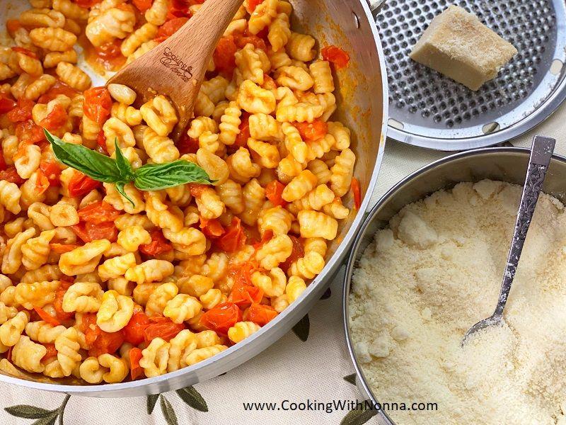Ricotta Gnocchi with Cherry Tomato Sauce