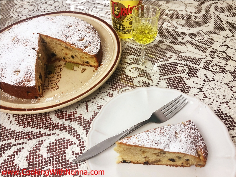 Apple Walnut Cake with Strega