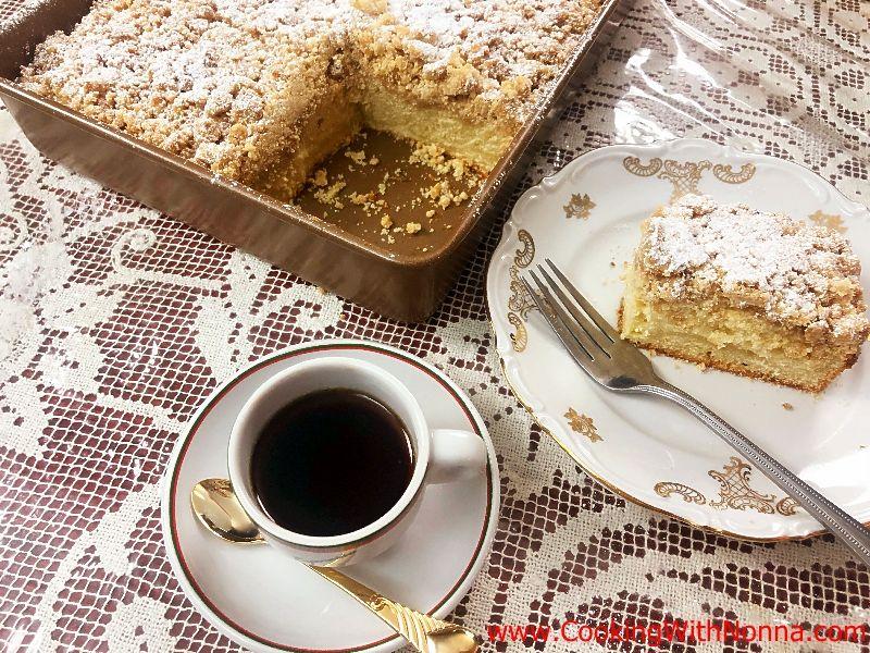 Amaretto Crumb Cake