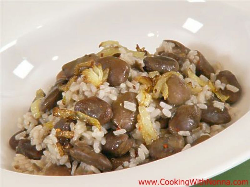 Arborio Rice with Dry Fava Beans