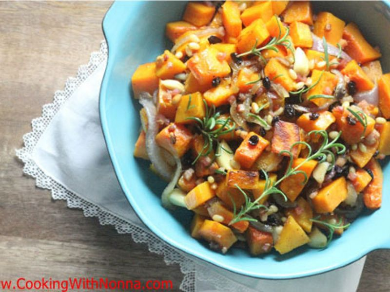 Roasted Butternut Squash with Pancetta