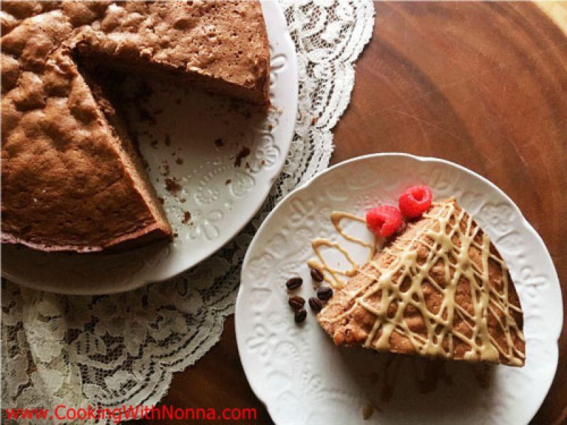 Chocolate Pan di Spagna with Espresso Glaze
