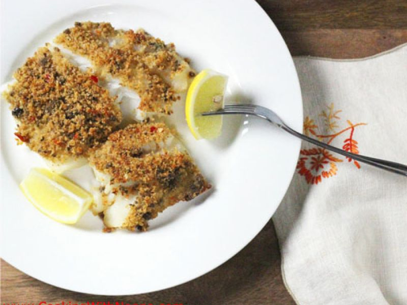 Baked Cod with Almonds