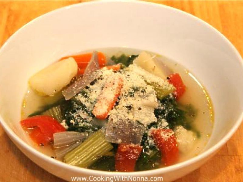 Dandelions in Vegetable Broth