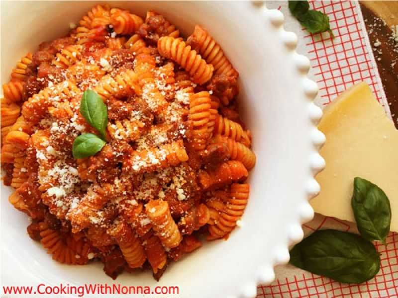 Fusilli with Sausage Ragu