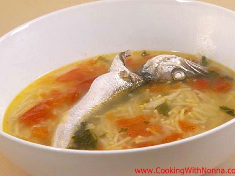 Brodetto di Merluzzi with Cut Spaghetti - Whiting Soup