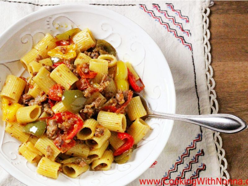 Mezzi Rigatoni with Sausage & Peppers