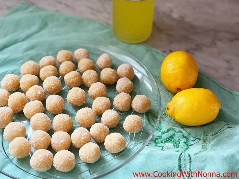 No-Bake Limoncello Balls
