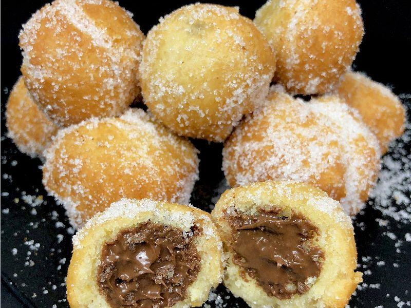 Nutella Stuffed Castagnole