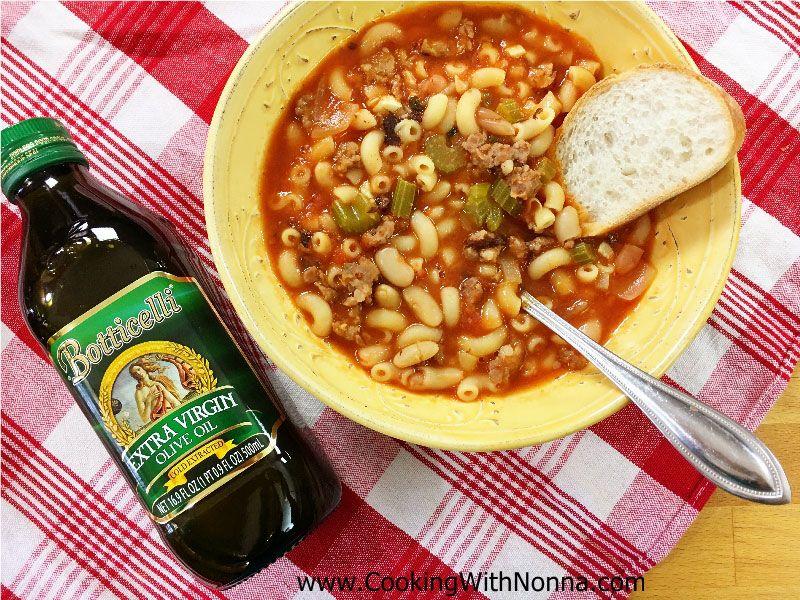 Pasta e Fagioli Soup with Sausage