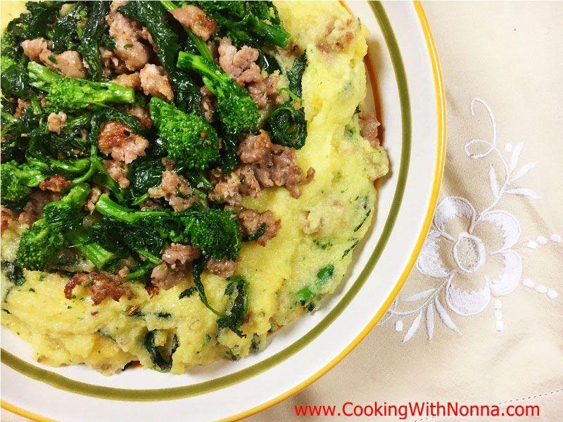 Polenta with Sausage and Broccoli Rabe