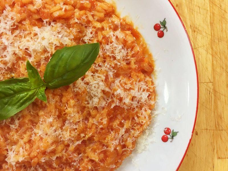Rice with Tomato Sauce - Riso al Pomodoro