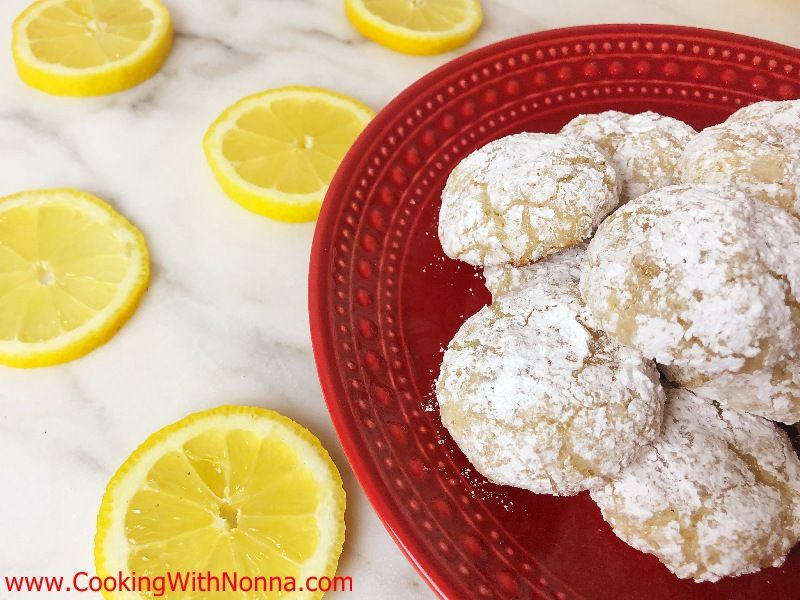 Soft Lemon Amaretti Cookies Recipe