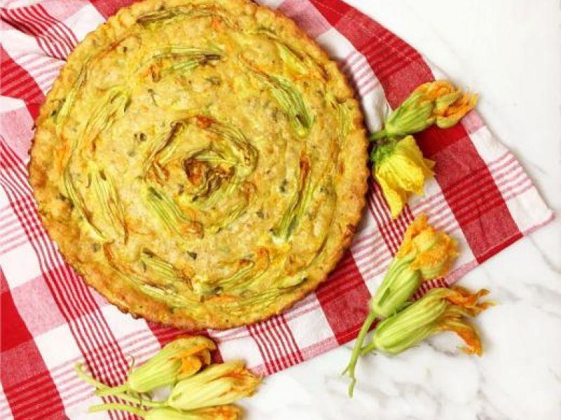 Nonna's Baked Zucchini Flowers Frittata