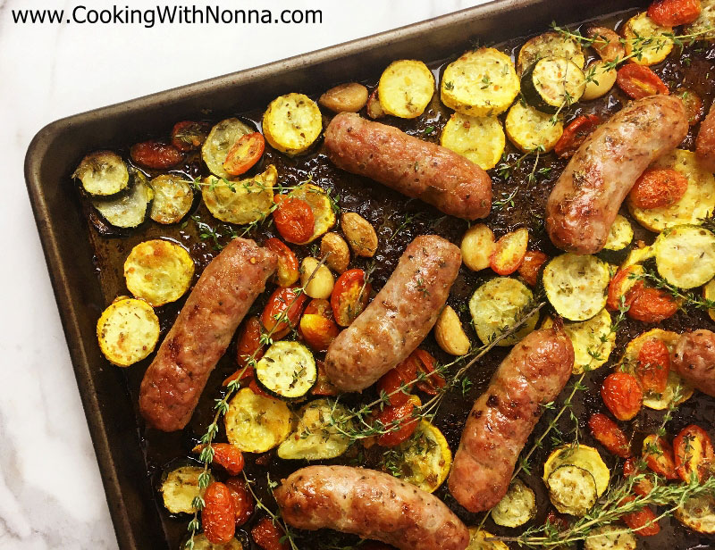 Sausage and Summer Veggies
