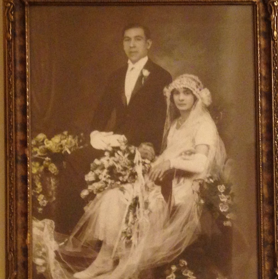 My Nonna Lucy (Nunziata) and my Nonno Tom on their Wedding Day, February 14, 1926, yes, Valentine's Day!
