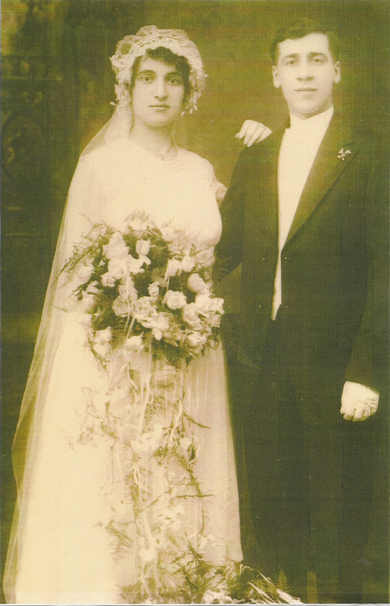 Nonna Grace Alois and Nonno Frank Alois, my mother's parents on their wedding day, checking on the date.