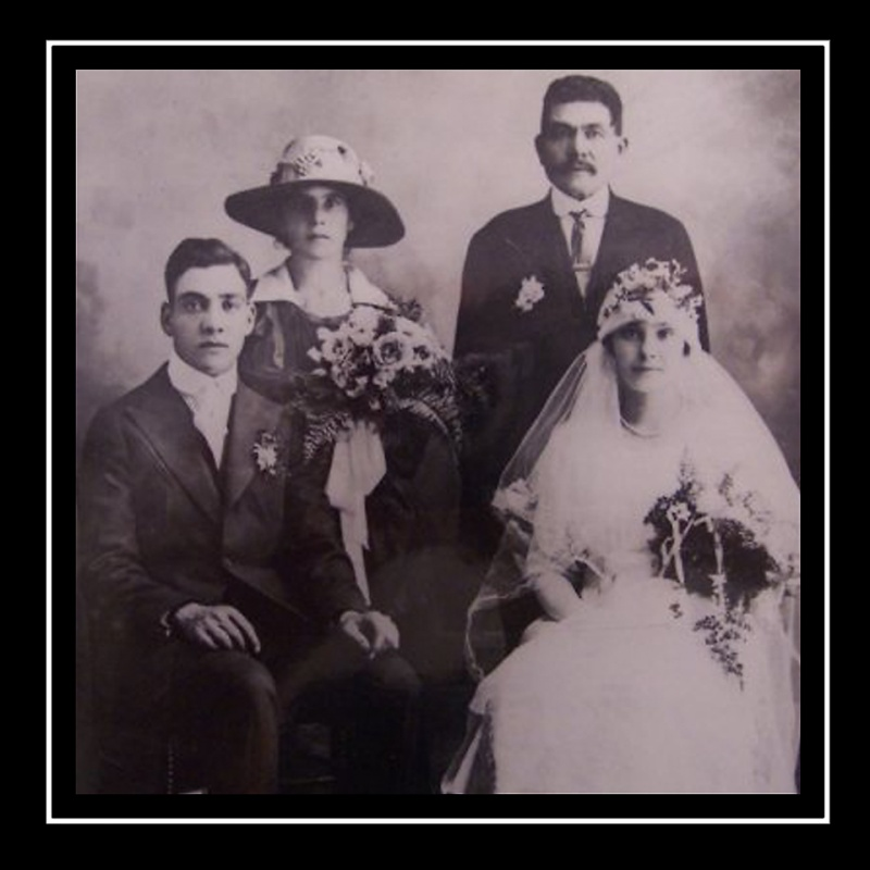 My Nonna Mary and Papa Salvatore Perri on their wedding day in 1917. They were from a small town in Calabria called Plati.