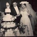 Mom & Dad Wedding Cutting Cake 1951 small