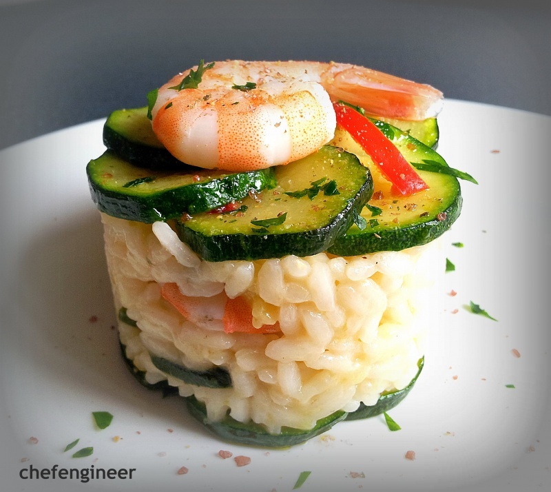 risotto, shrimp and zucchini flavored with ginger...<br />the one invisible ingredient: the scent of ginger ...