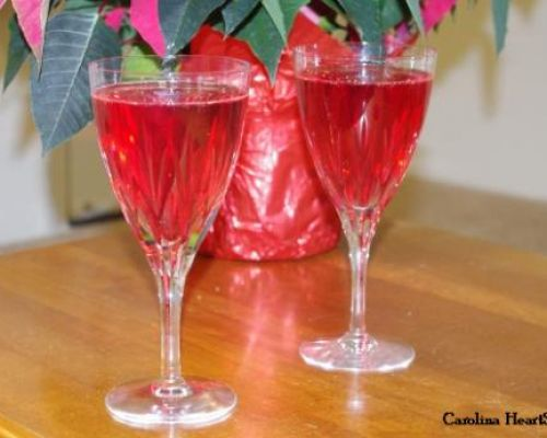 Cranberry-Orange Champagne Cocktail