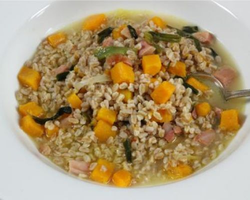 Farro, Butternut Squash and Pancetta