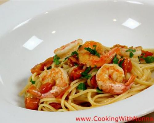 Linguine with Shrimp Sauce
